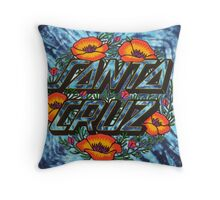 Santa Cruz blue tie dye Throw Pillow