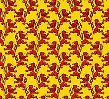 Scottish Lions Pattern by bloomingvine