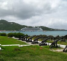 "Waterfront,Charlotte Amalie at Legislature Grounds St. Thomas USVI by Edmond J. [""Skip""] O'Neill"