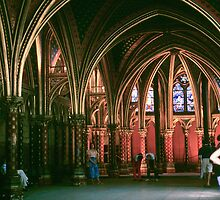 Paris St Chapelle Lower chapel 1245 198408180007 by Fred Mitchell