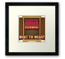 What to Wear? Donkey Kong Framed Print