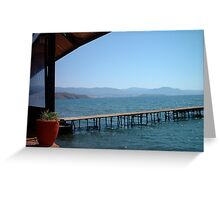 Olivepress seaview Greeting Card