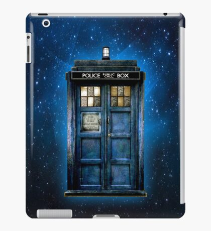 Space And Time traveller Box With yellow stained glass iPad Case/Skin