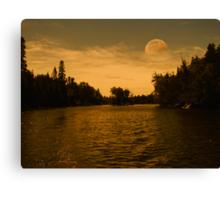 Pale Moon Rising Canvas Print
