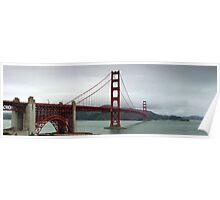 Golden Gate panorama Poster