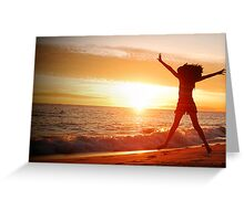 I love a sunset country Greeting Card