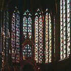 Upper chapel St Chapelle Paris 198408180021 by Fred Mitchell
