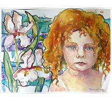 Ruffled Iris Poster