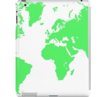 Pixel Map of the world iPad Case/Skin