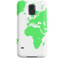 Pixel Map of the world Samsung Galaxy Case/Skin