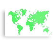 Pixel Map of the world Metal Print