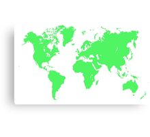 Pixel Map of the world Canvas Print