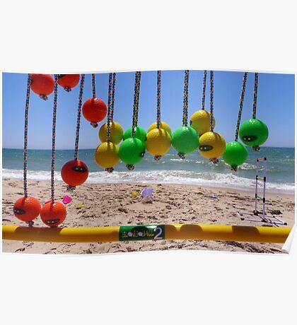 Blongo Ball Beach Poster
