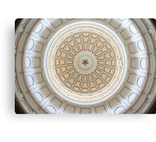 Capitol of Texas Ceiling 2 Canvas Print