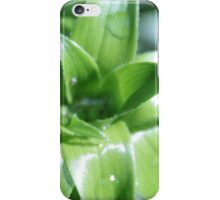 fresh spring green lily leaves. iPhone Case/Skin