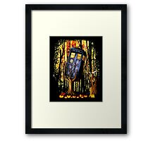 Haunted Blue Phone Box captured By witch Framed Print