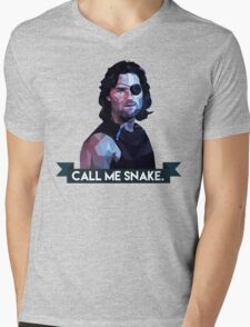 Snake Plissken Mens V-Neck T-Shirt