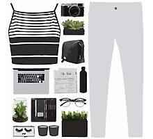 Fashion Collage Photographic Print