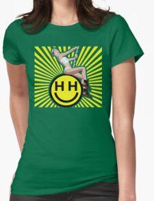 Happy Hippie Foundation Logo [Sunbeam] Womens Fitted T-Shirt