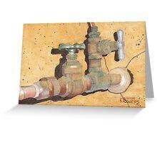 Plumbing Greeting Card