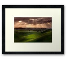The Lightshow - Red Rock Colac Framed Print