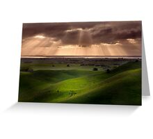 The Lightshow - Red Rock Colac Greeting Card