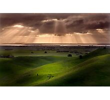 The Lightshow - Red Rock Colac Photographic Print