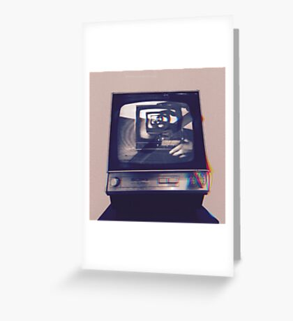 TV HEAD VINTAGE Greeting Card