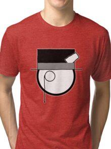 Cartoon Face 4 - Monocled Toff [Big] Tri-blend T-Shirt