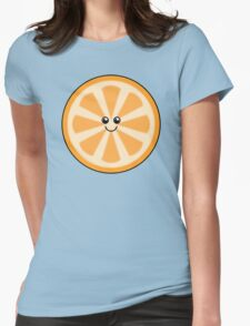 Cute Orange Womens Fitted T-Shirt