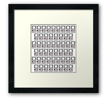Gameboy Original Tiled Framed Print