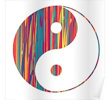 Colorful Drip Yin Yang Poster