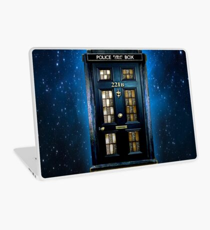 Space Traveller Box with 221b number Laptop Skin