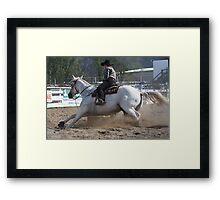Barrel racing Framed Print