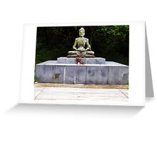 Starving Buddha Statue Greeting Card
