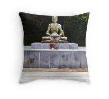 Starving Buddha Statue Throw Pillow