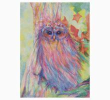 Colourful Owl in a tree Baby Tee