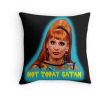 Bianca Del Rio: Not Today Satan Throw Pillow