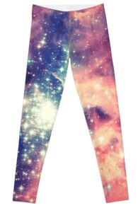 Painting the universe (Colorful Negative Space Art) Leggings