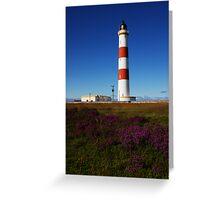 Tarbat Ness Lighthouse Heather Greeting Card