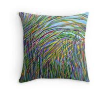 Seagrass- Study of Color, abstract art, home decor wall decor Throw Pillow