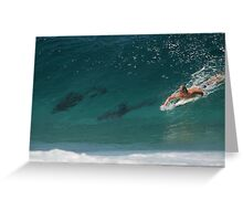 DOLPHIN DROP-IN Greeting Card