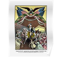 General Washington's Reception At Trenton Poster