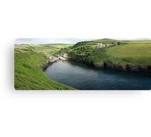 Port Quin Panorama Canvas Print