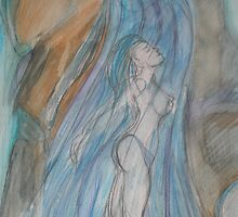 Waterfall Goddess by Anthea  Slade