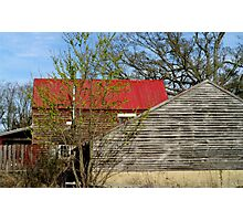 Old farm, out buildings,  Photographic Print