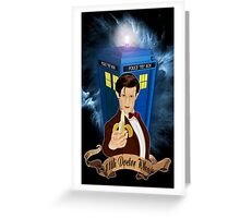 Time and Space Traveller with Banana Greeting Card