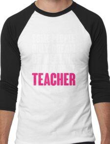 Proud Teacher Mom Men's Baseball ¾ T-Shirt