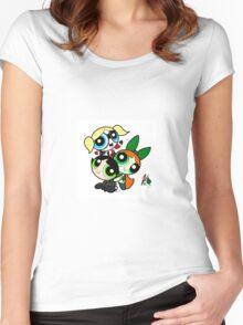 Gotham Puff Girls Women's Fitted Scoop T-Shirt