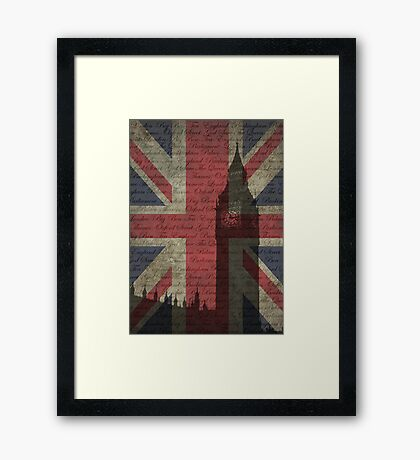 London-Typography Framed Print